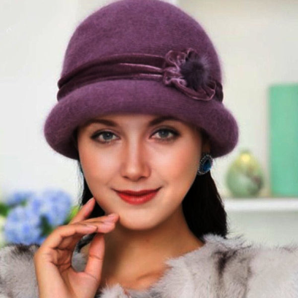 Vintage Angora-Blend  Winter Warm Hats