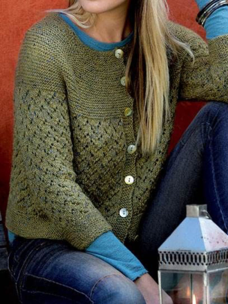 Solid Knitted Vintage Sweater