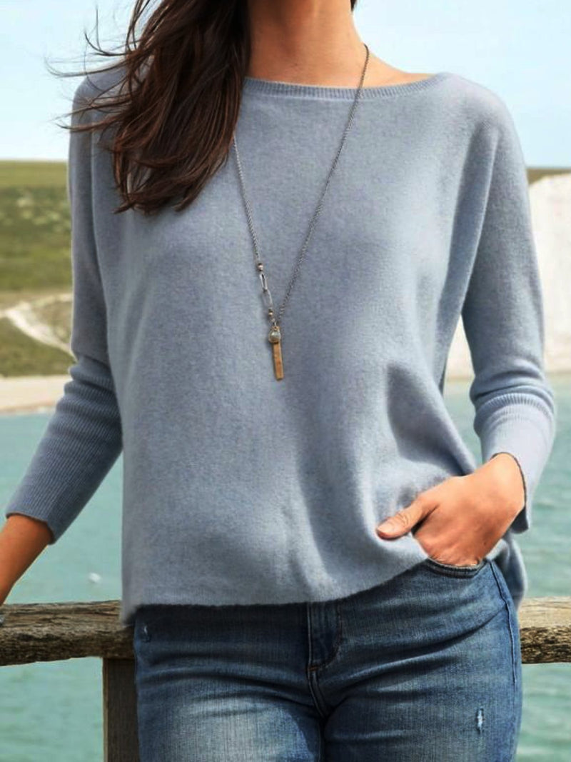Casual Plain Round Neck Shirts & Tops