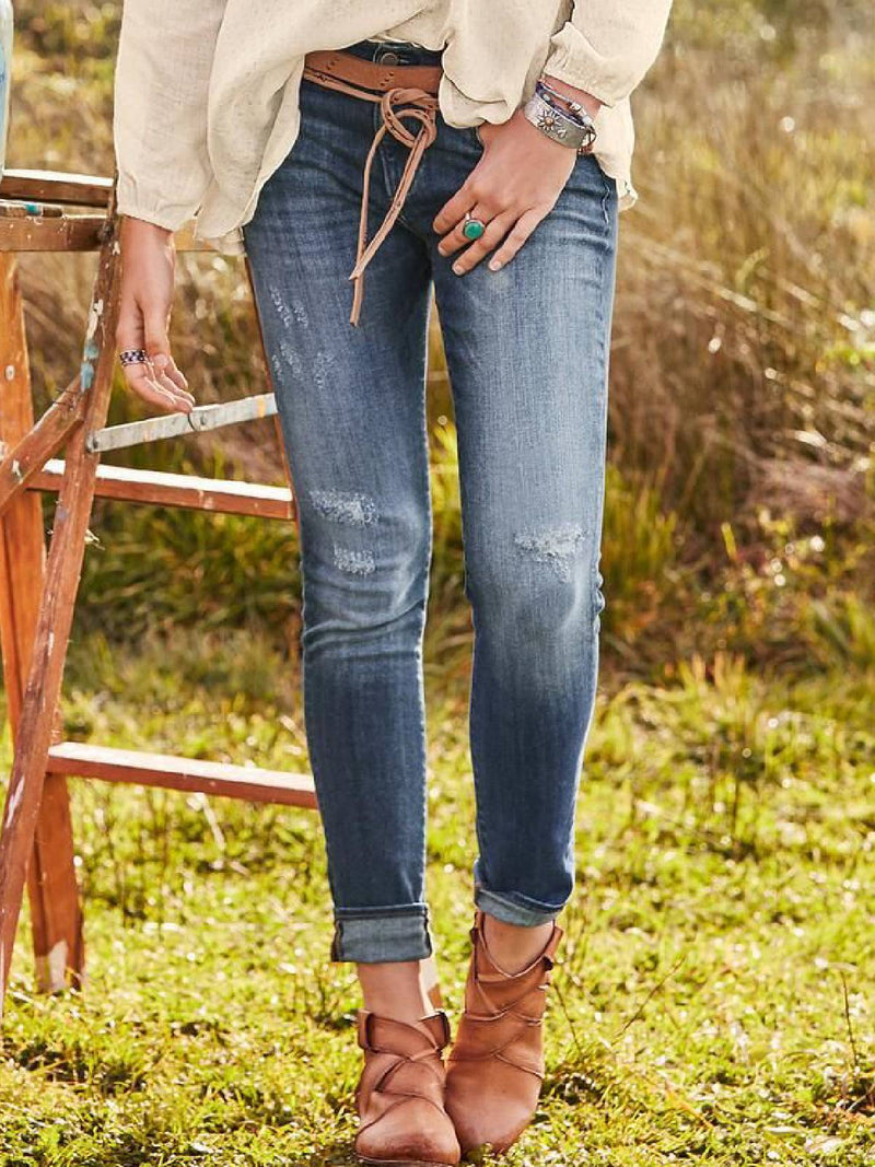 Plus Size Casual Denim Pants