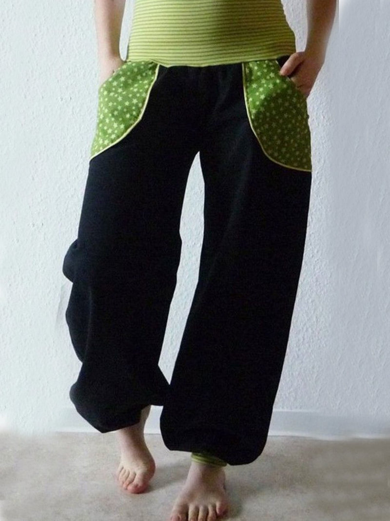 Plus Size Vintage Pockets Pants