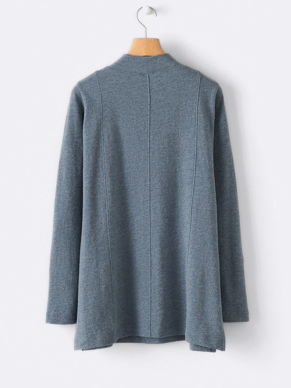 Gray Casual Plain Round Neck Shirts & Tops