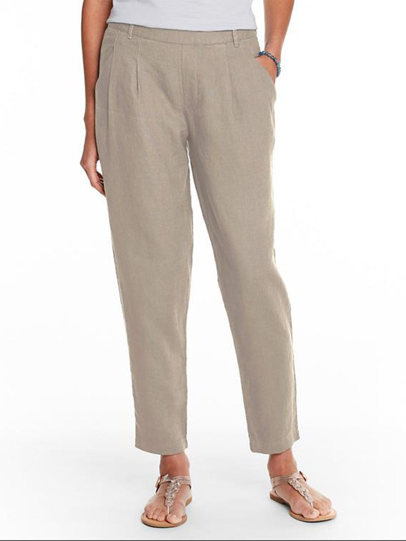 Casual Pleated Solid Pants