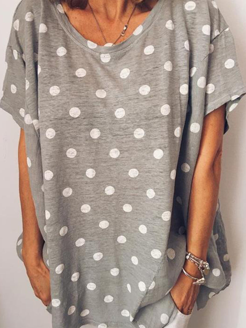 Casual Printed Short Sleeve Round Neck Shirts