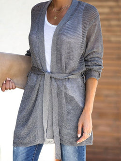 Knitted Long Sleeve Casual Outerwear