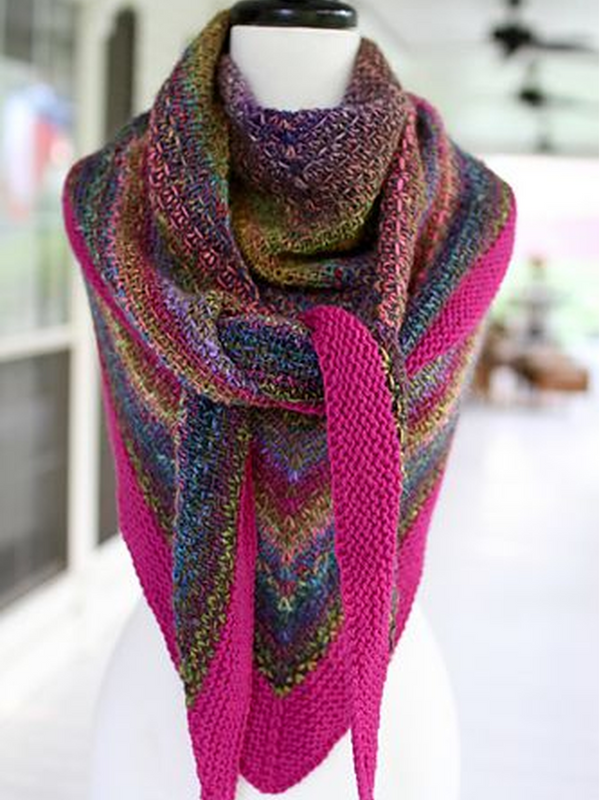 Casual Color-Block Knitted Scarves & Shawls