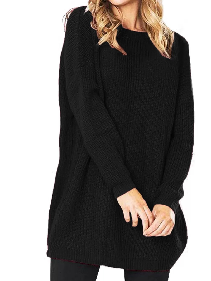 Knitted Long Sleeve Casual Sweater