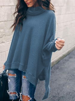 Long Sleeve Solid Casual Sweater