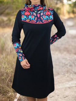 Floral-Print Casual Dresses