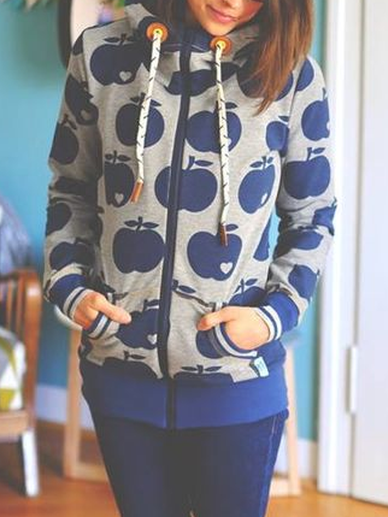 Long Sleeve Printed Casual Outerwear