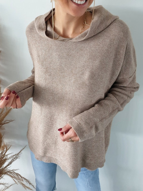 Solid Casual Sweater