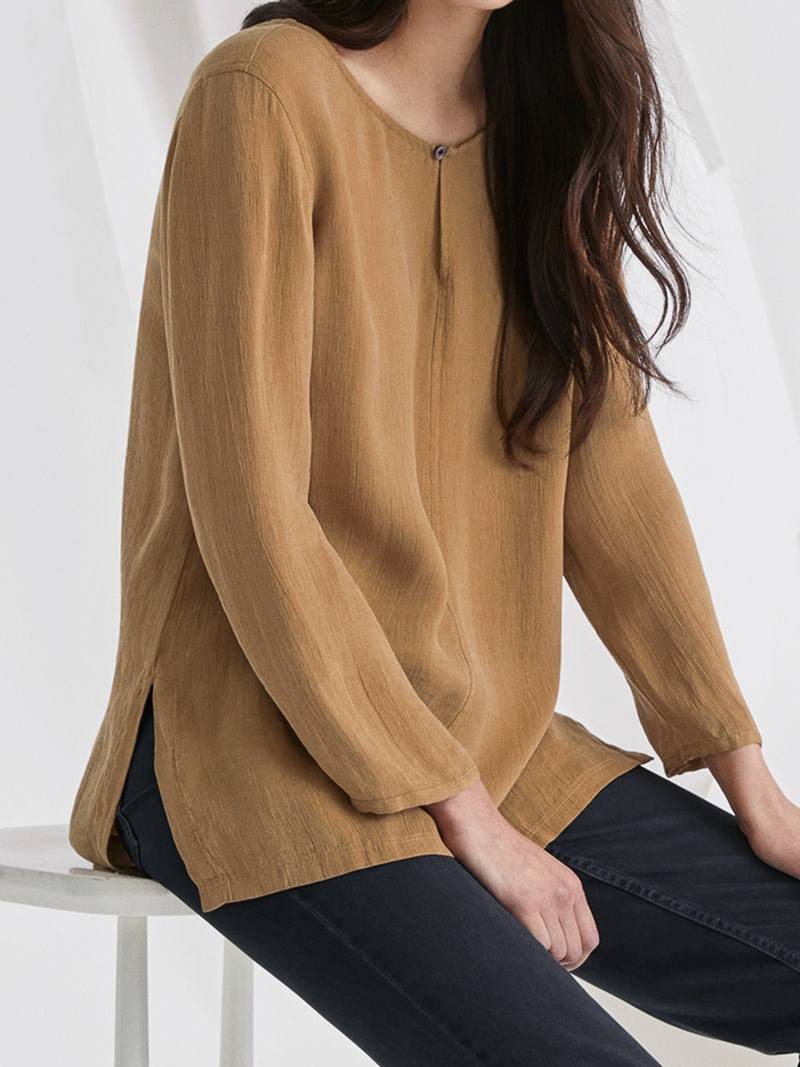 Solid Long Sleeve Casual Shirts & Tops