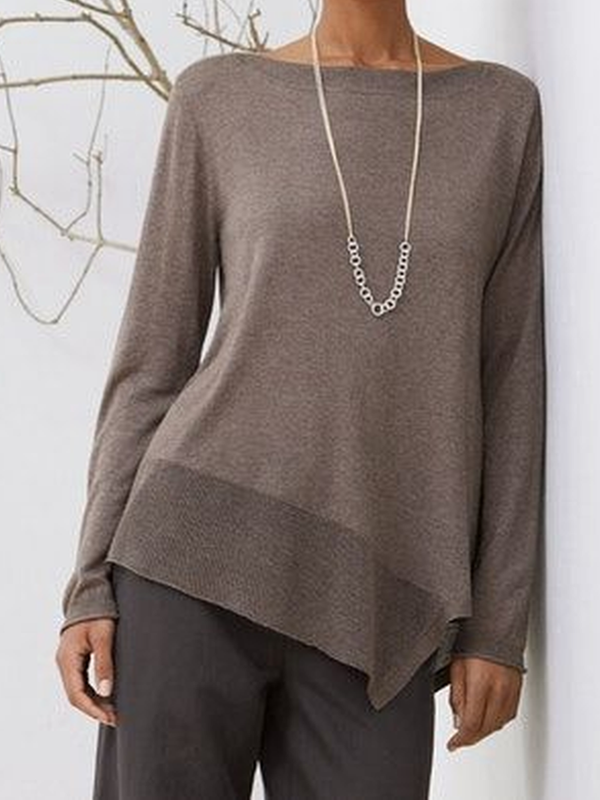 Plain Casual Crew Neck Sweater