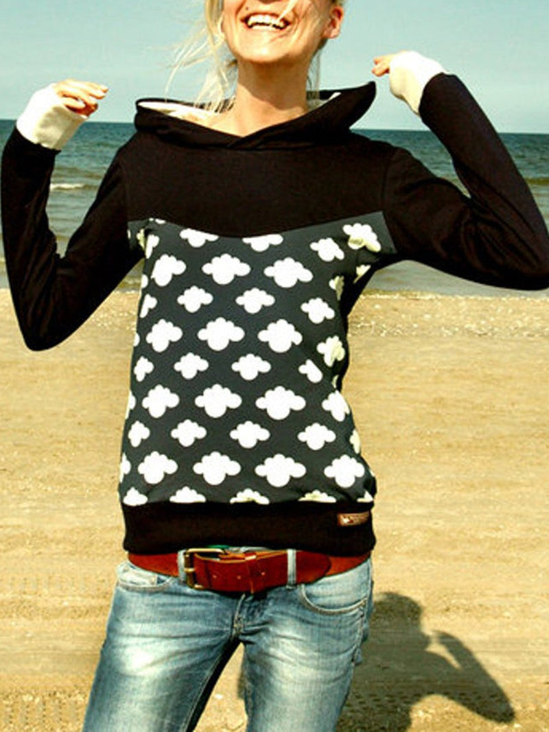 Printed Casual Cotton-Blend Hoodie Outerwear