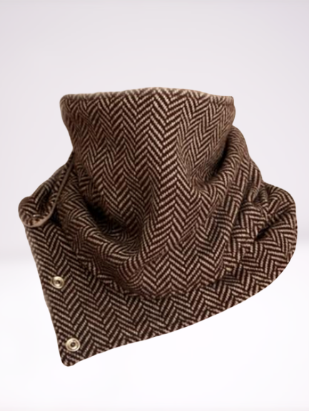 Brown Casual Wool Blend Scarves Shawls