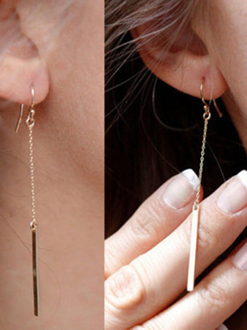 Womens Simple Stylish Pendant Earrings
