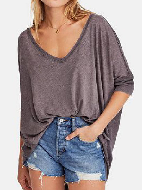 Light Purple Casual Cotton-Blend Shirts & Tops