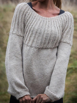 Cozy Knitted Sweaters Plus Size Pullovers Jumpers