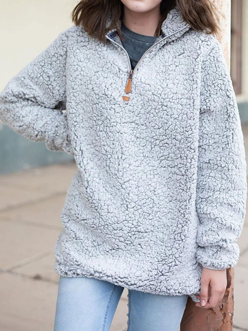 Plus size fall Cotton Casual Sweatshirt