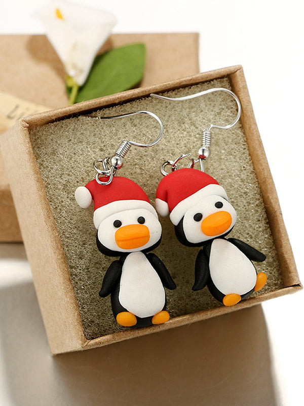 Christmas Creative Penguin Earrings