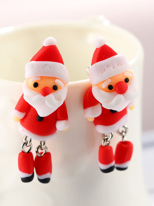 Christmas Creative Santa Claus Earrings