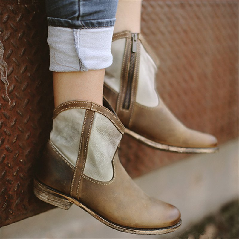 Women Casual Daily Matching Color Ankle Boots