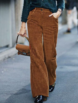 Brown Shift Corduroy Pants