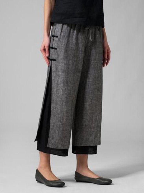 Women Plus Size Wide Leg Long Pants