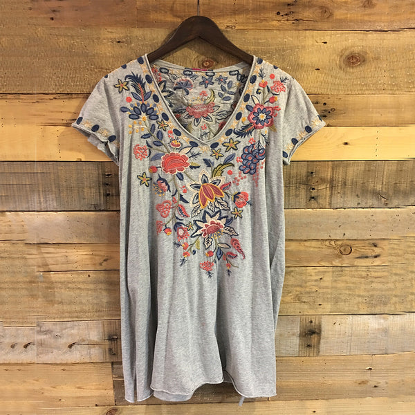 Women's Cotton Casual Short Sleeve V Neck Summer Plus Size Tops