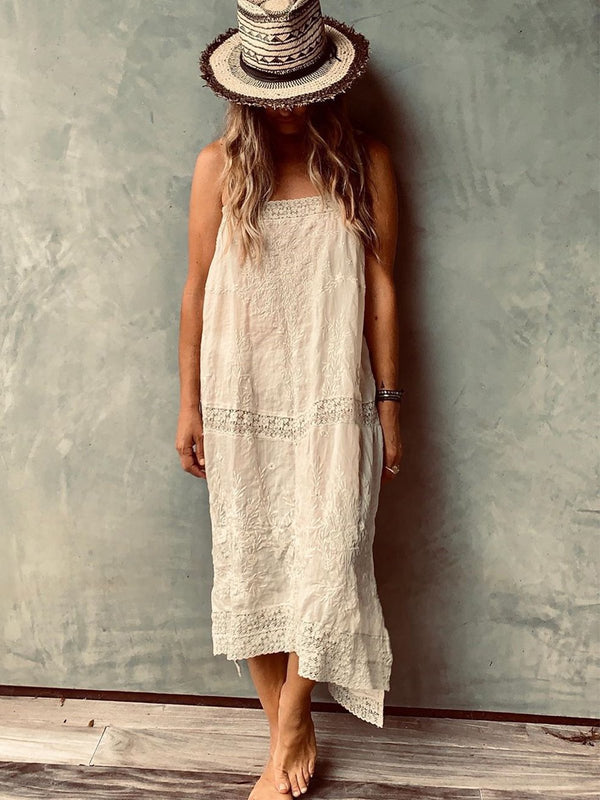 Sexy Bohemian Plus Size Camisole Sleeveless Dress