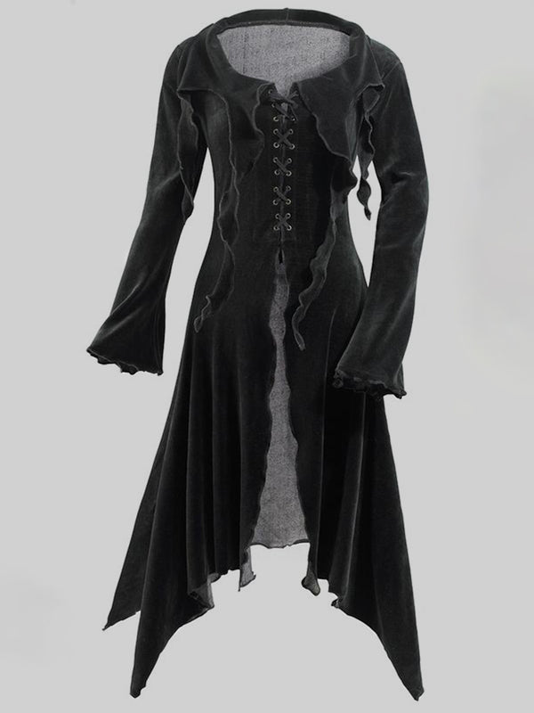 Plus Size Vintage Long Sleeve Solid Halloween Outerwear
