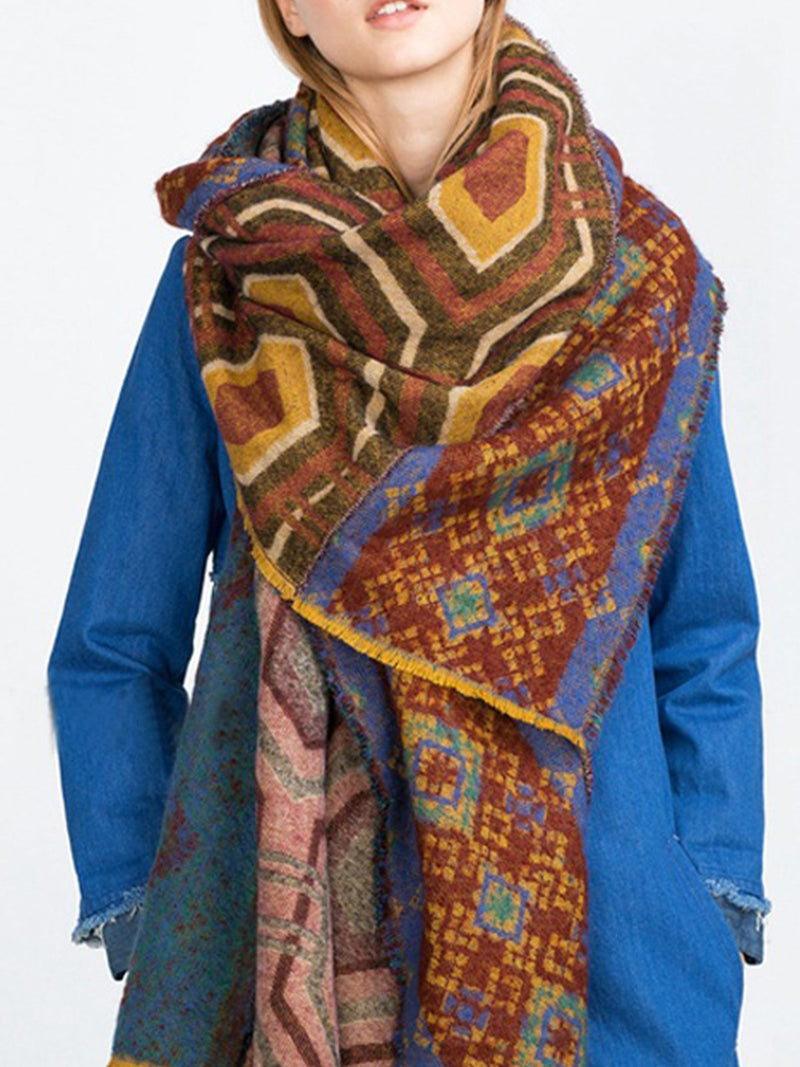 As Picture Cotton-Blend Statement Women Scarves & Shawls