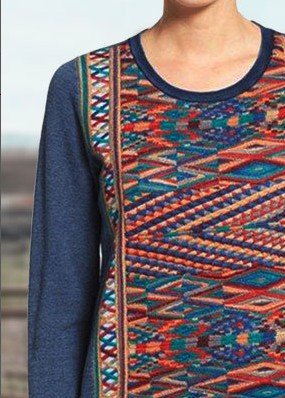 Blue Printed Casual Long Sleeve Plain Shirts & Tops