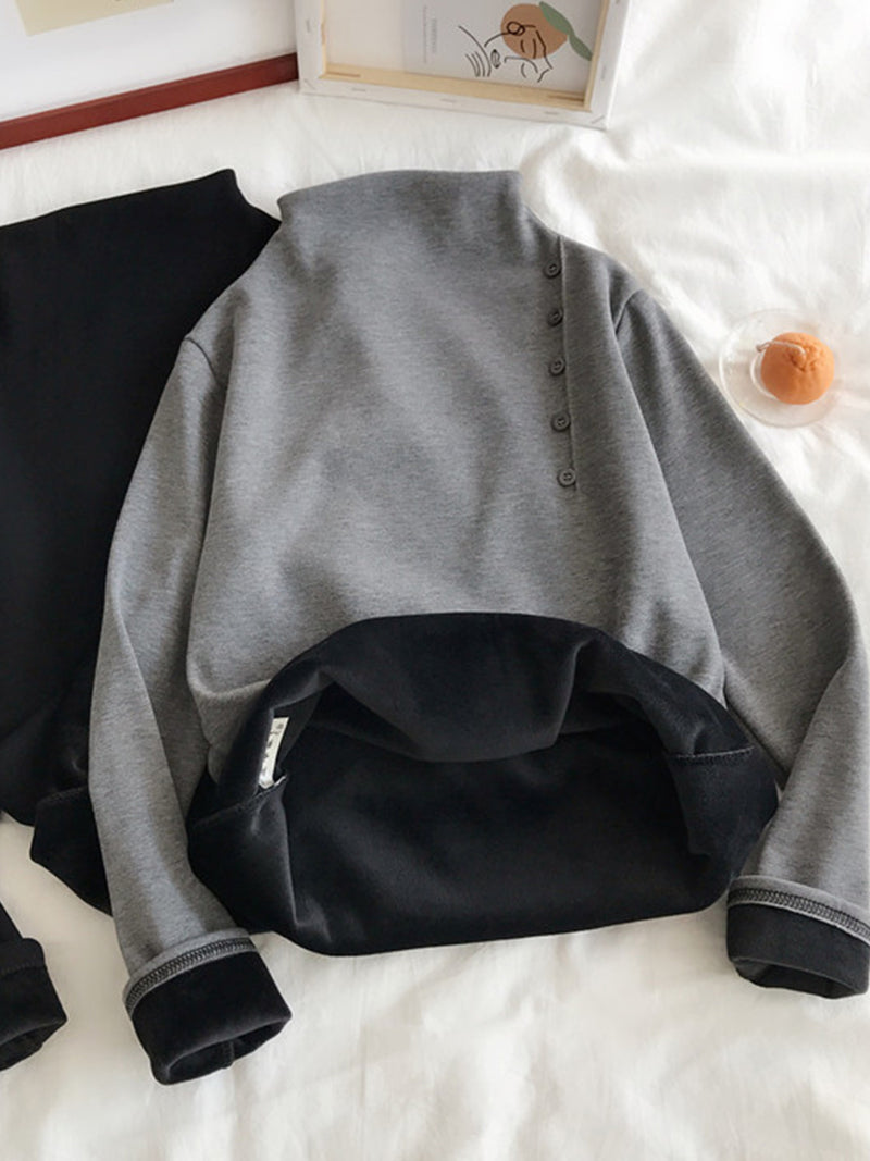 Cotton Buttoned Sweater