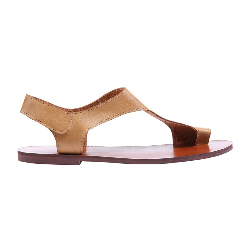 Plus Size Sandals Women Magic Tape Flat Heel Sandals