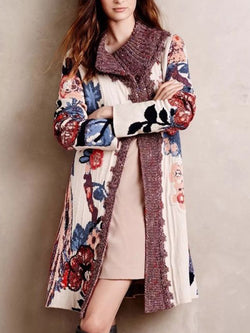 Plus size Knitted Boho Cotton Outerwear