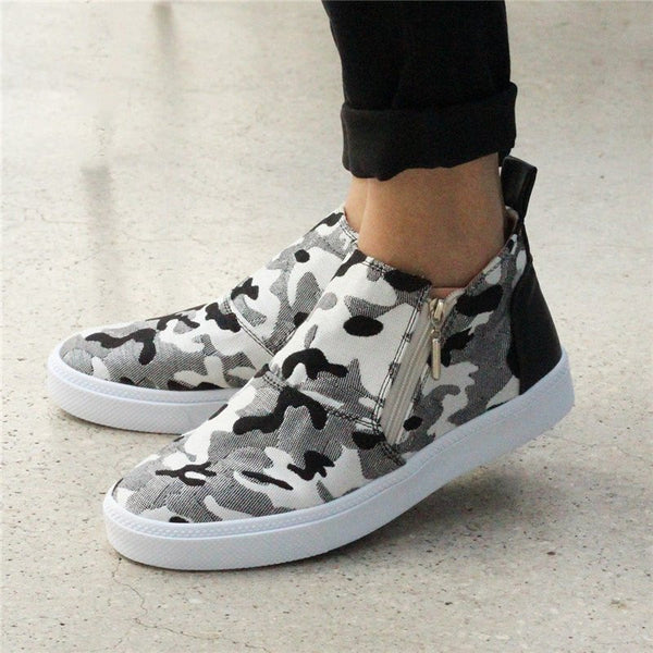 Women Casual Daily Mid-High Flat Sneakers