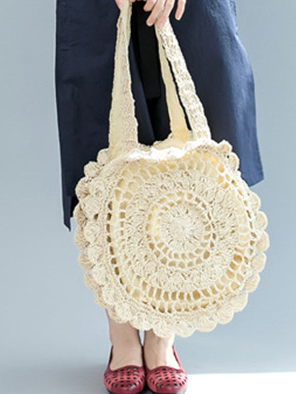 Fashion Beach Straw Crochet Shoulder Bag