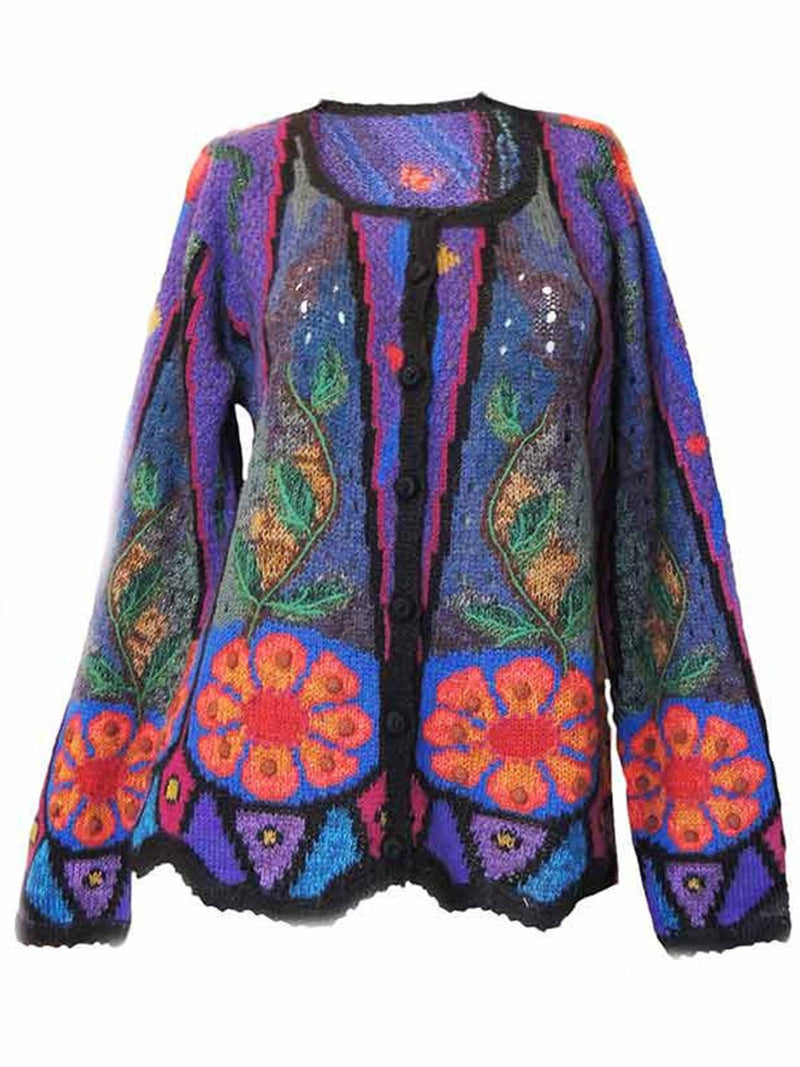 Women's  Casual Floral Shift Long Sleeve Outerwear