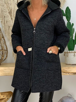 Solid Casual Long Sleeve Outerwear