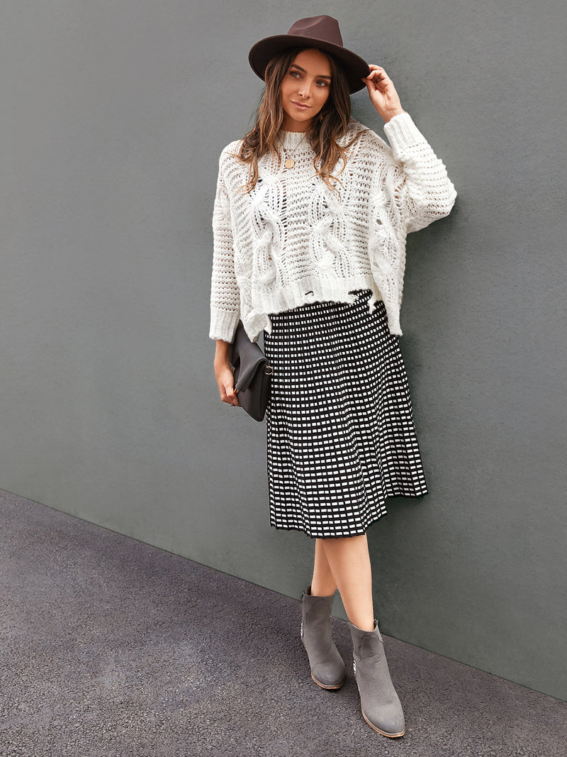 Women Printed Geometric Vintage Skirts