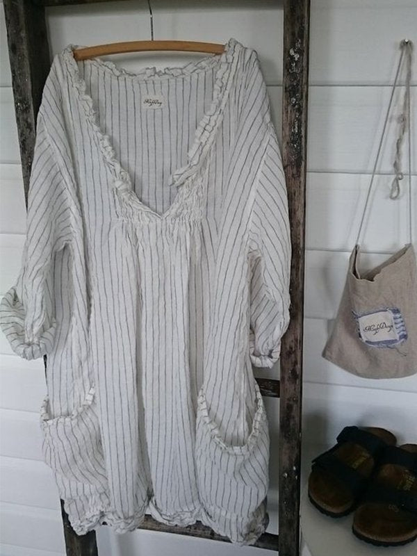 3/4 Sleeve Striped Casual Casual Dresses