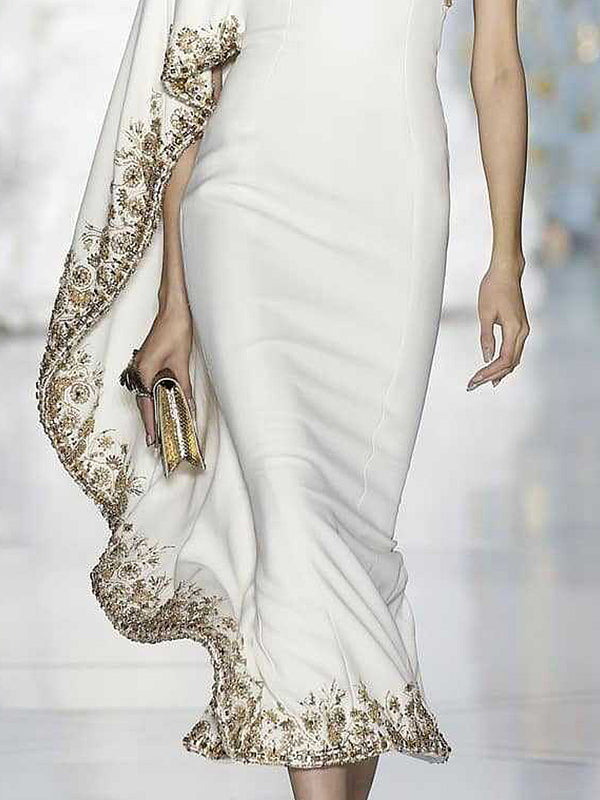 One Shoulder White Asymmetrical Evening Elegant Asymmetric Dress