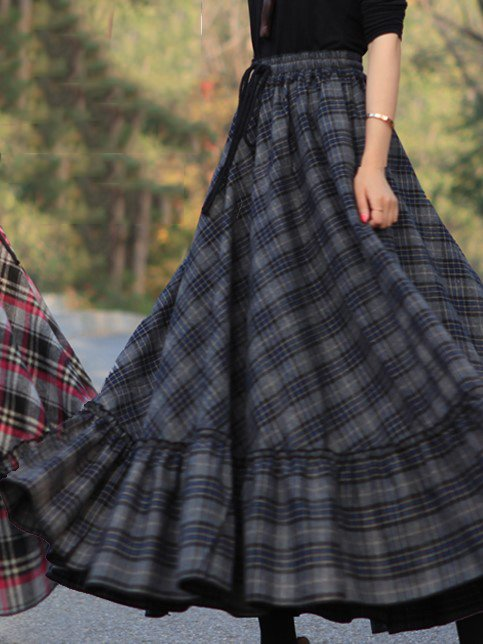 Vintage A Skirt Plaid