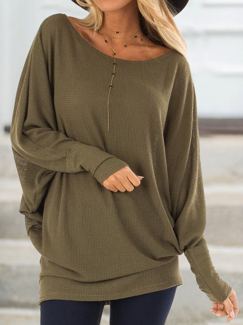 Grey Cotton-Blend Crew Neck Casual Plus Size Sweatshirts