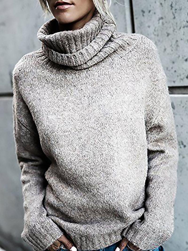 Holiday Shift Turtleneck Long Sleeve Shirts & Tops