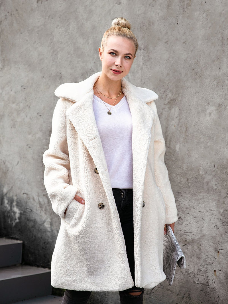 Long Sleeves Shawl Collar Outerwear