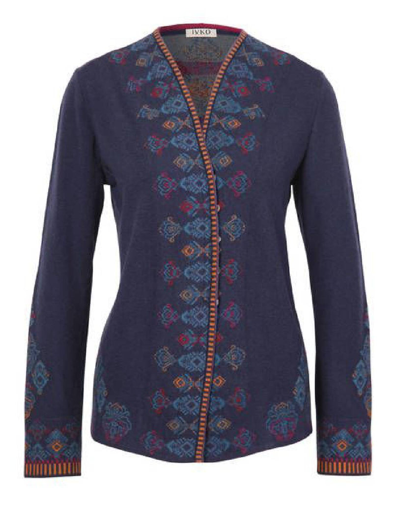 Round Neck Printed Cotton-Blend Long Sleeve Outerwear