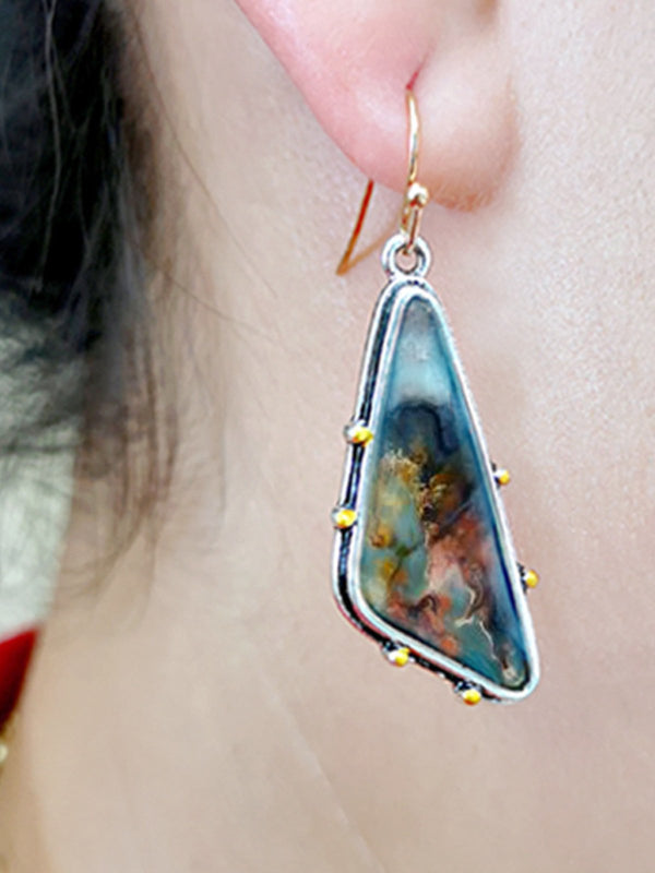 Colored Marble Earrings