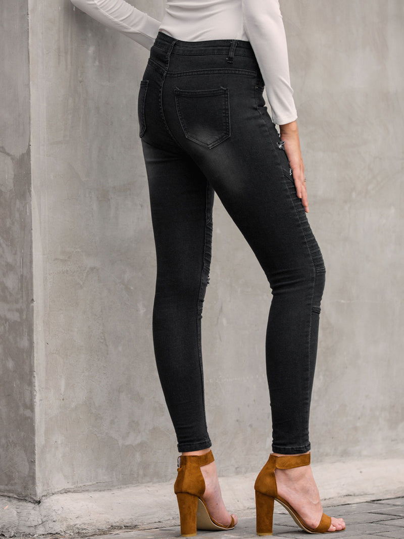 Women Casual Ripped Jeans